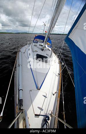 Saddler 34 Yacht sailing on Lough Derg Ireland - Stock Photo