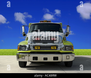 Front view of an American ambulance truck - Stock Photo