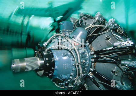 Engine on display at the Strategic Air and Space Museum near Lincoln, Nebraska. - Stock Photo
