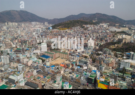 View of Busan, South Korea, from Busan Tower. - Stock Photo