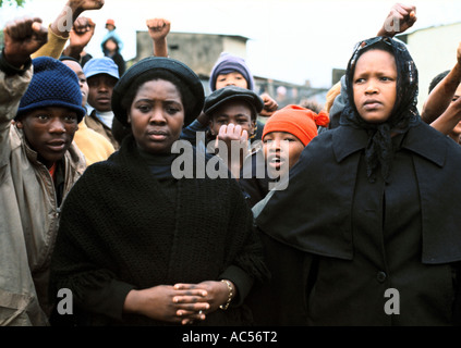 STEVE BIKO'S WIFE AT HIS FUNERAL IN KING WILLIAM'S TOWN 1977 - Stock Photo