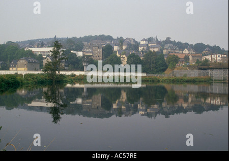 IRON CURTAIN EAST GERMAN TOWN OF HIRSCHBERG 1989 The fall of communism looking into East Germany - Stock Photo