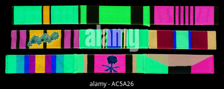2 jpg and military Occupations Occupations and Trades Trades ribbons Striped Striped military ribbons 2 jpg - Stock Photo