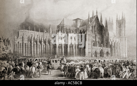 The coronation procession of their majesties William IV and Queen Adelaide, September 8 1831. - Stock Photo