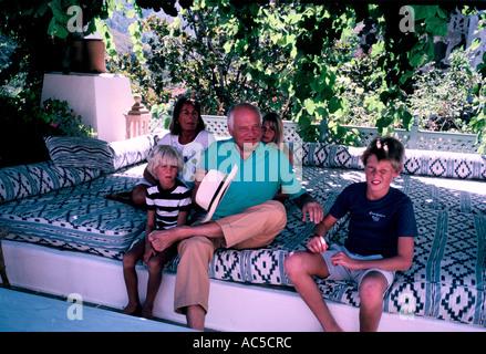 SIR JAMES GOLDSMITH FAMILY MARBELLA - Stock Photo