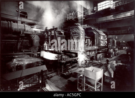 Peter Jordan Network Photographers Image Ref PJA 10135222 psd ASW Steel Foundry Wales Furnace - Stock Photo