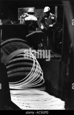 Peter Jordan Network Photographers Image Ref PJA 10135223 psd ASW Steel Foundry Wales Steel wire production - Stock Photo