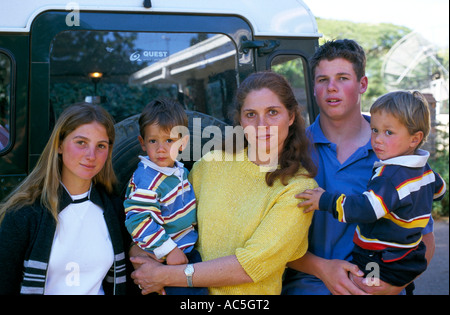 Widow Maria Stevens with her children Zimbabwe, 2000 - Stock Photo