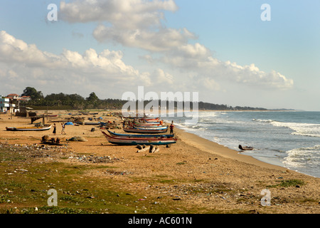 Mahabalipuram Beach, UNESCO World Heritage Site Near Chennai Tamil Nadu state India Asia - Stock Photo