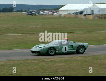 Ford GT40 Course Car at Goodwood Revival Meeting 2003 - Stock Photo