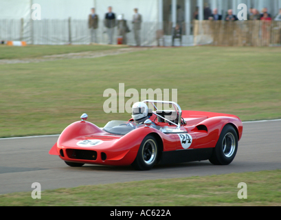 McLaren Chevrolet M1B Sports Car at Goodwood Revival Motor Racing Meeting 2003 West Sussex England United Kingdom - Stock Photo
