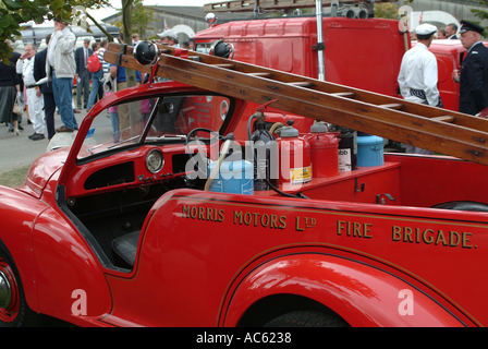 Morris Motors Ltd Fire Brigade Vehicle at Goodwood Revival Meeting 2003 West Sussex England United Kingdom UK - Stock Photo