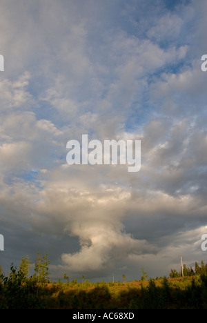Thunderstorm cell forming - Stock Photo