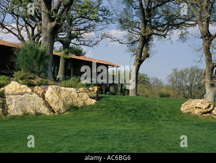 hotel adler thermae spa in bagno vignoni tuscany italy stock photo