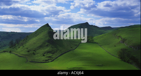 Parkhouse Hill and Chrome Hill Peak District National Park Derbyshire - Stock Photo