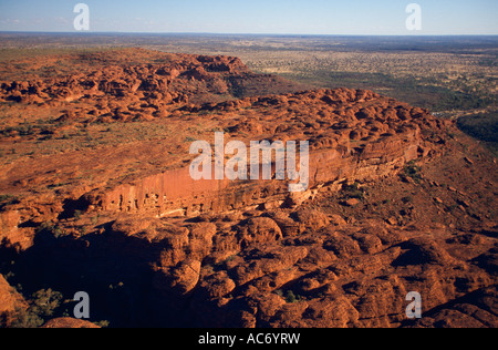 Aerial view of sandstone domes, Watarrka (Kings Canyon) National Park, Northern Territory, Australia, horizontal, - Stock Photo