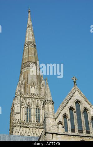 Salisbury Cathedral Wiltshire - Stock Photo