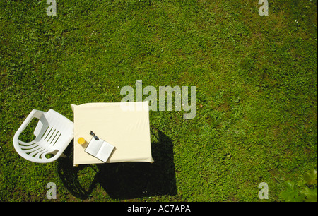 Leisure in the garden. - Stock Photo