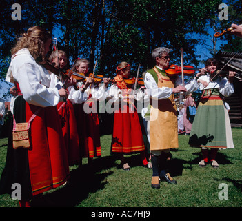 Musicians Mora Dalarna Sweden - Stock Photo