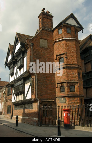 Tudor Architecture Eastgate House Rochester High Street Kent UK - Stock Photo