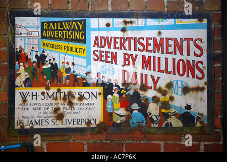 Old Advertising Sign at the Gower Heritage Centre, Gower, Wales, UK - Stock Photo