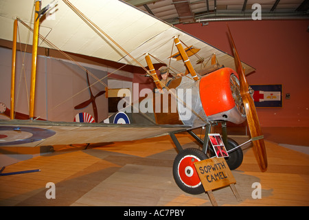Sopwith Camel, Fleet Air Arm Museum, Yeovilton, Somerset, England, UK - Stock Photo