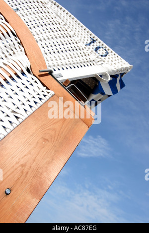 Typical Beach Chairs are seen in Timmendorfer Strand - Stock Photo