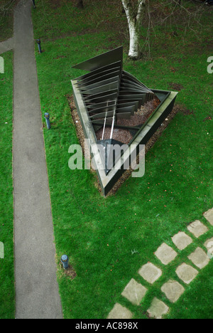 Mechanical sculpture at University of East Anglia (UEA) - view from above - Stock Photo