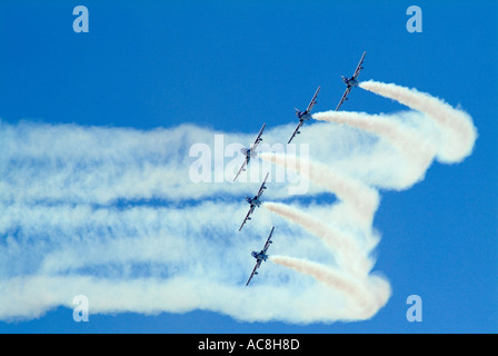 Italian aerobatic team Frecce Tricolori at the Royal International Air Tattoo Fairford UK July 2005 - Stock Photo