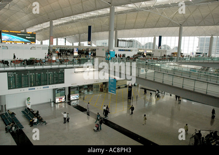 Hong Kong's Chek Lap Kok  Airport - Stock Photo