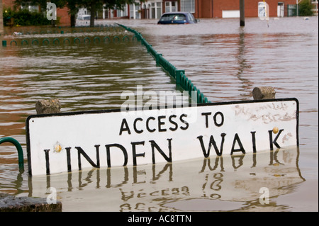 the unprecedented Toll Bar floods near Doncaster, Yorkshire, UK - Stock Photo