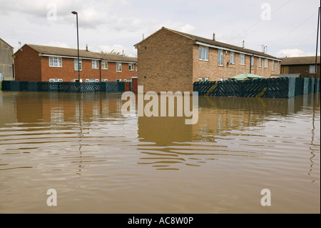 The unprecedented floods in Toll Bar near Doncaster, Yorkshire, UK, - Stock Photo