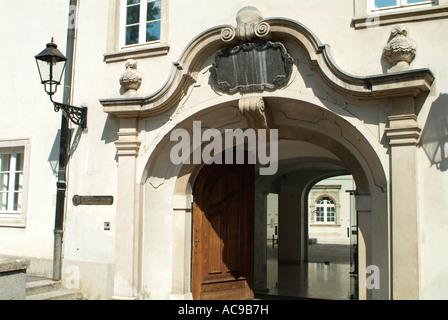 Gallery Klovicevi dvori in The Upper Town in Zagreb, Croatia - Stock Photo