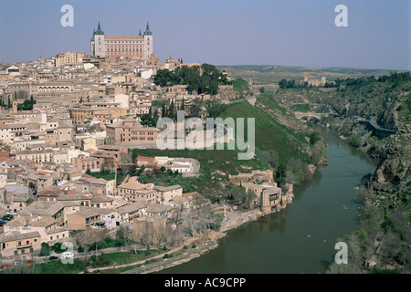 Toledo city on the River Tagus Spain - Stock Photo