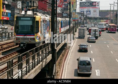 Manila, Philippines: Traffic on Edsa street during the rush