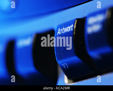 Computer keyboard, function key, answering an e-mail - Stock Photo