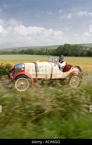 Vintage car Opel RAK 1, Year of Construction 1923. Rocket-propelled protoype of the brand Opel - Stock Photo