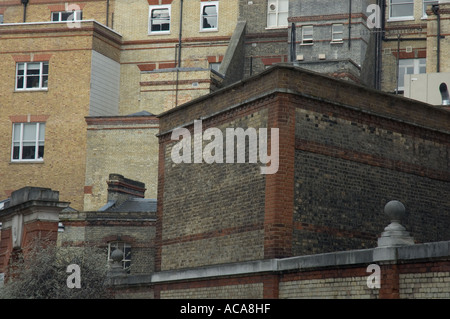 Brick buildings in Beeston Place Westminster London UK - Stock Photo