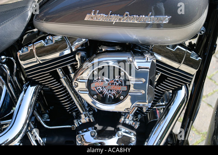 Twincam Engine of a Harley Davidson Fat Boy - Stock Photo