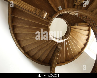 Stairway, castle Boitzenburg, Brandenburg, Germany - Stock Photo