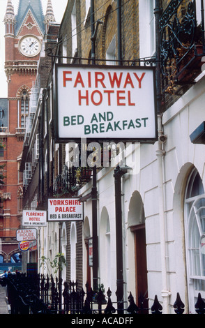 Signs For Cheap Hotels Near Kings Cross Station London
