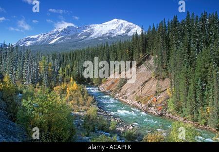 Valley in Jasper National Park, Rocky Mountains, Alberta, Canada - Stock Photo