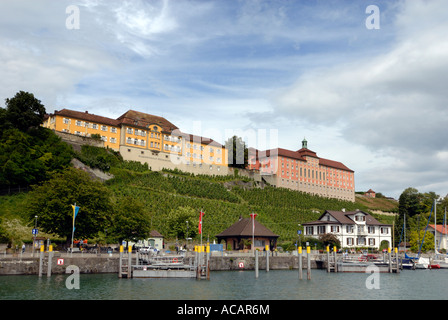 Harbour, Meersburg, Baden Wuerttemberg, Germany, Europe. - Stock Photo