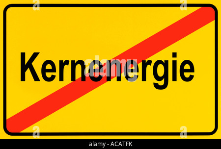 German city limits sign symbolising end of