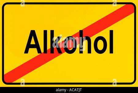 German city limits sign symbolising prohibition