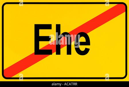 German city limits sign symbolising