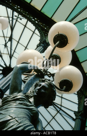 Naples Italy Art nouveau bandstand in the public gardens of Villa Communale, Chiaia - Stock Photo