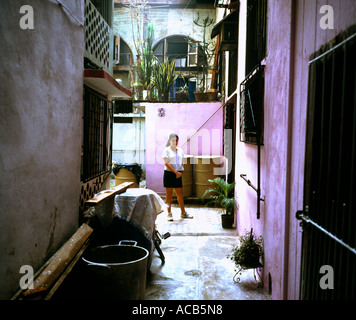 Cuban Girl, Old Havana, Cuba - Stock Photo