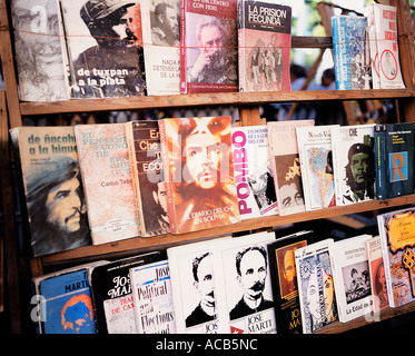 Books on sale at the Plazza De Armas bookmarket in Havana, Cuba - Stock Photo