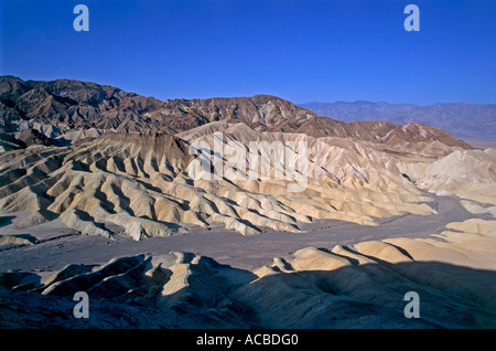 golden canyon area of zabriskie point region of death valley state of california usa - Stock Photo